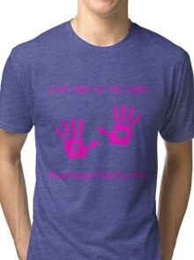 Handprints - Pink Tri-blend T-Shirt