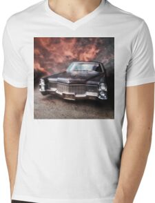 Cadillac Mens V-Neck T-Shirt