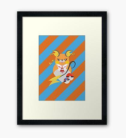 Cutie Pokemon – Raichu! Framed Print