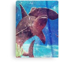 Hammerhead Shark In The Deep Blue Ocean Painting  Canvas Print