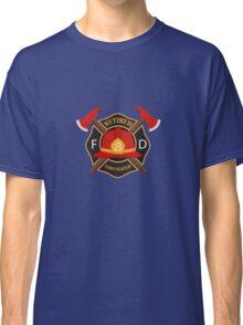 Retired Firefighter Badge - Fireman Rescue Hero  Classic T-Shirt