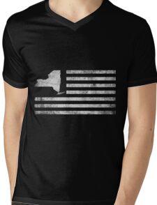 New York State United States Flag Vintage Mens V-Neck T-Shirt
