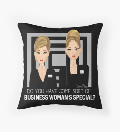 Romy & Michele - Business Women Throw Pillow