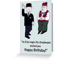 Mr Benn and the Shopkeeper 'Birthday' Greeting Card