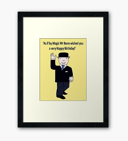 Mr Benn 'Birthday' Framed Print