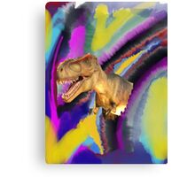Tie dye dinosaur T-Rex Canvas Print
