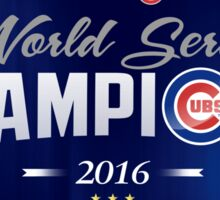 Chicago Cubs Champions 2 Sticker
