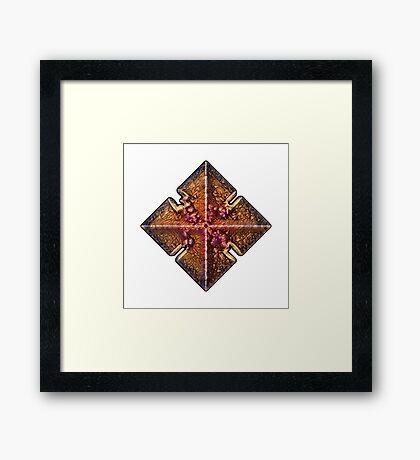 Gold Foil Spade Framed Print