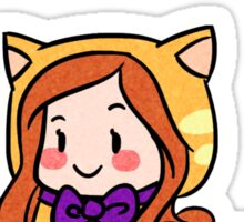 Kitty Lydia says you are purrrfect! Sticker