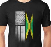 Jamaican American Flag Unisex T-Shirt