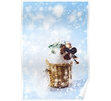 Magical Christmas Decoration with White Balls Poster