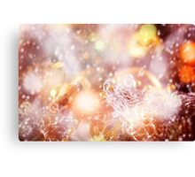 Blurred Christmas Lights and Sparkles Canvas Print