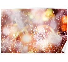 Blurred Christmas Lights and Sparkles Poster