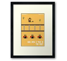 Once Upon a Time in the West- 8 bit Framed Print