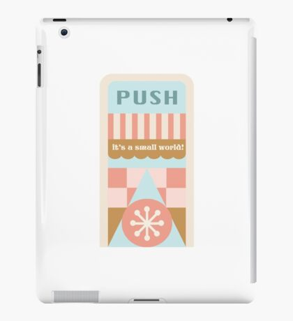 Small World Trash Can Design iPad Case/Skin