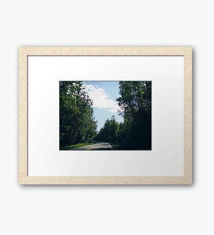 Road in Alaska, 2016 Framed Print