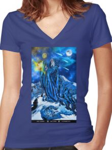 The Hermit Women's Fitted V-Neck T-Shirt