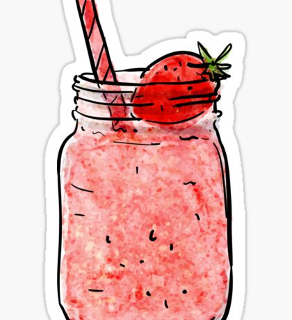 STRAWBERRY SMOOTHIE STICKER Sticker