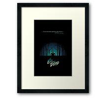 forest evil dead  Framed Print
