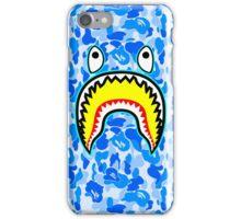 bape blue shark iPhone Case/Skin