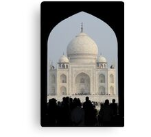 Taj Mahal Through The Gate Canvas Print