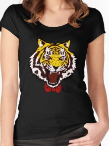 yuri tiger high resolution vector Women's Fitted Scoop T-Shirt