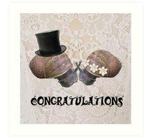Congratulations Snails Art Print