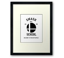 Smash School (Black) Framed Print