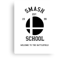 Smash School (Black) Canvas Print