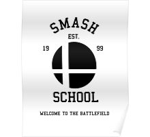 Smash School (Black) Poster