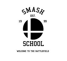 Smash School (Black) Photographic Print
