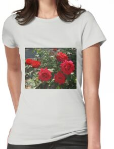 Red Roses Womens Fitted T-Shirt