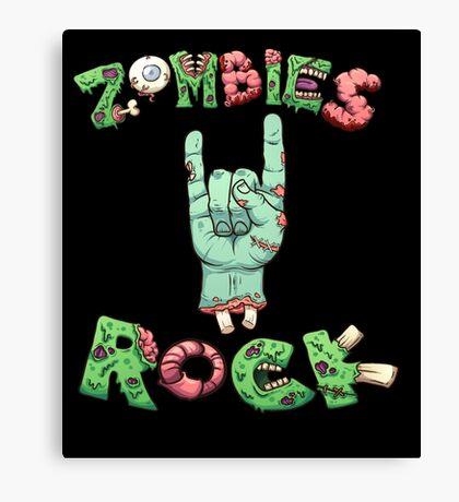 Zombies Rock Apocalypse Concert T Shirt Canvas Print