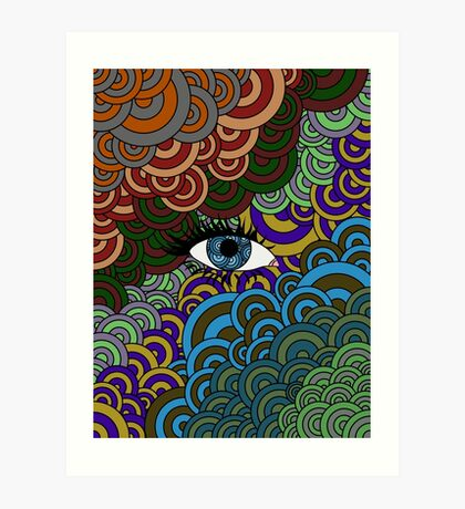 Multi-Colored Abstract Case Art Print