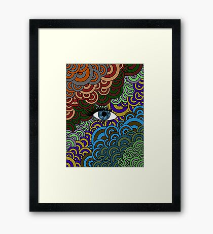Multi-Colored Abstract Case Framed Print
