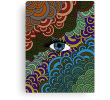 Multi-Colored Abstract Case Canvas Print