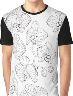 Black and white , Orchid Graphic T-Shirt