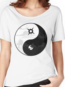 Sun and Moon Yin and Yang Women's Relaxed Fit T-Shirt