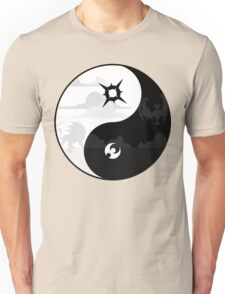 Sun and Moon Yin and Yang Unisex T-Shirt