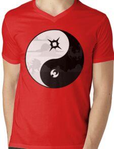 Sun and Moon Yin and Yang Mens V-Neck T-Shirt