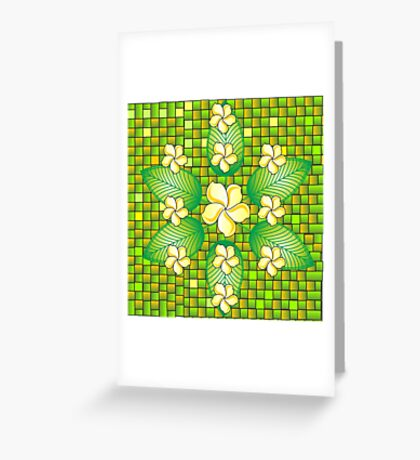 Indonesian Flowers Greeting Card
