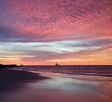 Sunrise in Broome, Pearl Coast near the Kimberley in Western Australia. by Mary Jane Foster