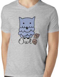 Cute cartoon owls Mens V-Neck T-Shirt