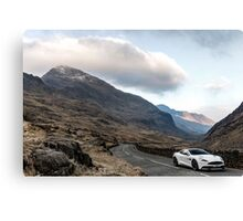 Aston Martin V12 Vanquish - Shot on Location in North Wales  Canvas Print