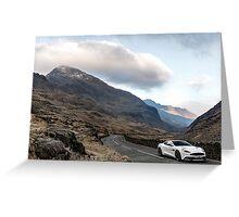 Aston Martin V12 Vanquish - Shot on Location in North Wales  Greeting Card