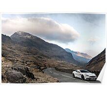 Aston Martin V12 Vanquish - Shot on Location in North Wales  Poster