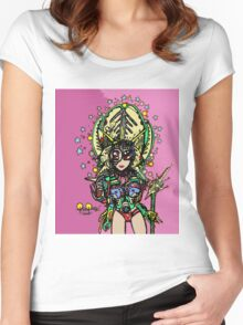 Original Space Lady 2 Women's Fitted Scoop T-Shirt