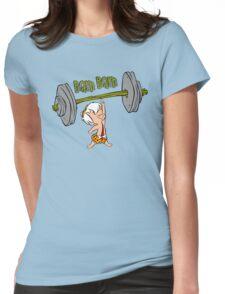 Funny Bam Bam Training The Flintstones Cartoon Womens Fitted T-Shirt