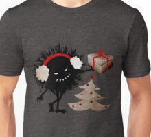 Evil Character Gives Christmas Present Unisex T-Shirt