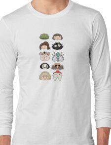 Spirited away chibis Long Sleeve T-Shirt